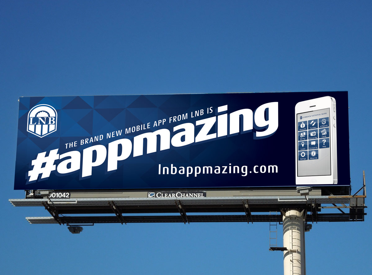 Lubbock National Bank appmazing billboard